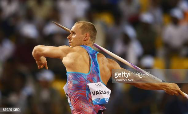 Jakub Vadlejch of the Czech Republic competes in the Men's Javelin during the Doha IAAF Diamond League 2017 at the Qatar Sports Club on May 5 2017 in...