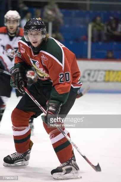 Jakub Voracek of the Halifax Mooseheads skates during the game against the Drummondville Voltigeurs at the Centre Marcel Dionne on November 18 2007...