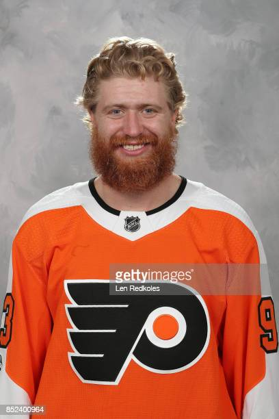 Jakub Voracek of the Philadelphia Flyers poses for his official headshot for the 20172018 season on September 14 2017 at the Virtua Flyers Skate Zone...