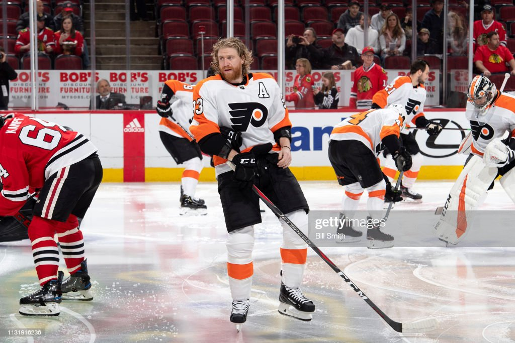 IL: Philadelphia Flyers v Chicago Blackhawks