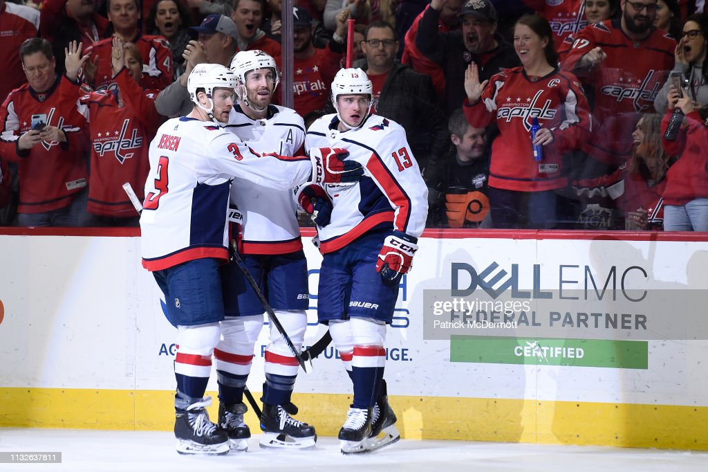 best service 69788 ee7e3 Jakub Vrana of the Washington Capitals celebrates with ...