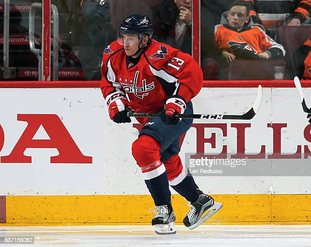 Jakub Vrana of the Washington Capitals skates against the Philadelphia Flyers on December 21 2016 at the Wells Fargo Center in Philadelphia...
