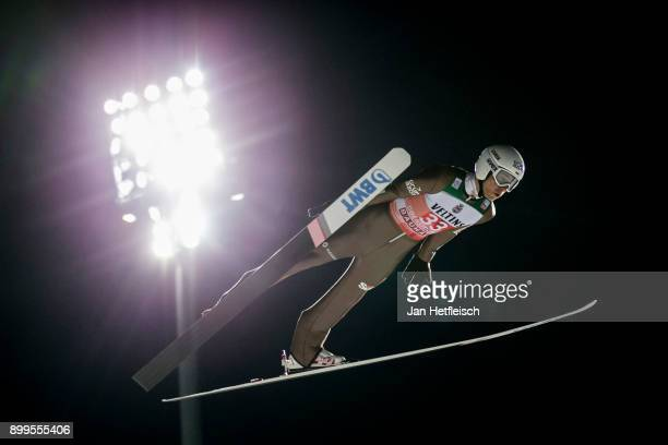 Jakub Wolny of Poland competes during the qualification round for the Four Hills Tournament on December 29 2017 in Oberstdorf Germany