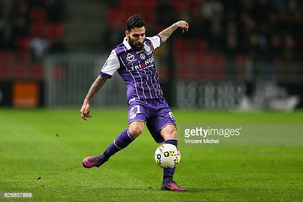 Jakup Durmaz of Toulouse during the French Ligue 1 match between Rennes and Toulouse at Roazhon Park on November 25, 2016 in Rennes, France.