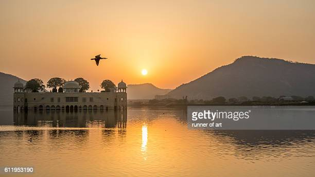 Jal Mahal Palace at sunrise