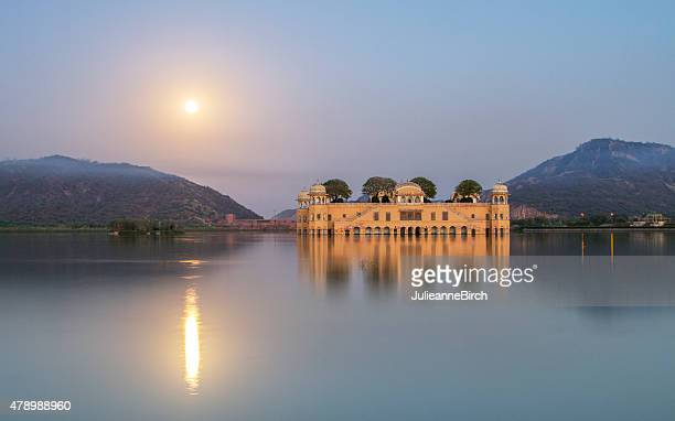 jal mahal water palace - udaipur stock pictures, royalty-free photos & images