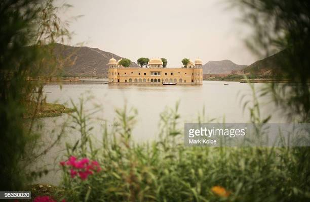 "Jal Mahal which translated means ""Water Palace"" is seen in the middle of Man Sagar lake on April 8, 2010 in Jaipur, India."