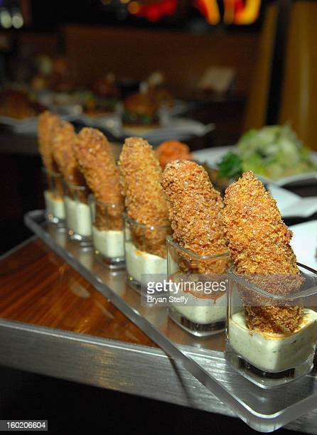 Jalapeno poppers are displayed at television personality and chef Gordon Ramsay's new restaurant Gordon Ramsay BurGR at Planet Hollywood Resort...