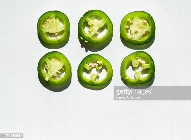 jalapeno ring matrix - jalapeno pepper stock pictures, royalty-free photos & images
