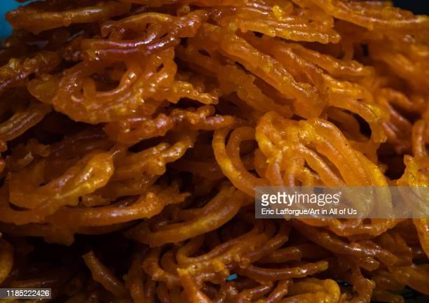 Jalebi indian sweets Rajasthan Bikaner India on July 25 2019 in Bikaner India
