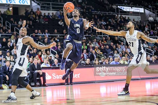 Jaleen Smith Guard for University of New Hampshire shoots the lay-up during the game between the Providence College Friars and the University of New...