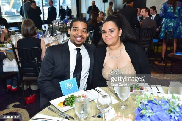 Jalen Bowers and Brittany Ellis attend The Boys' Club of New York Annual Awards Dinner at Mandarin Oriental Hotel on May 17 2017 in New York City