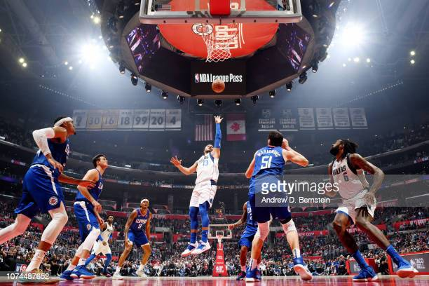 Jalen Brunson of the Dallas Mavericks shoots the ball against the LA Clippers on December 20 2018 at STAPLES Center in Los Angeles California NOTE TO...