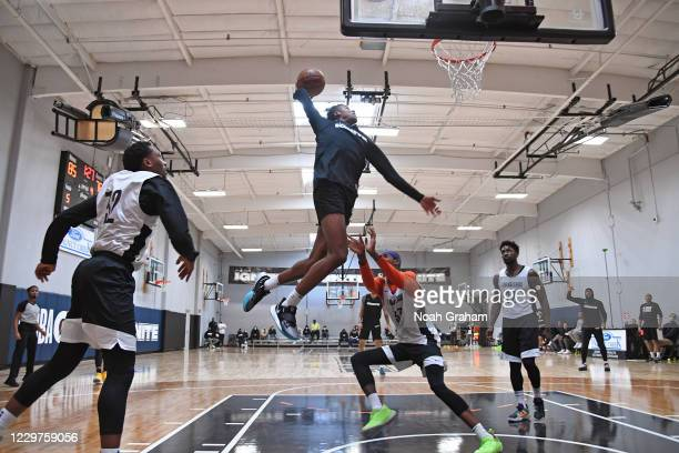 Jalen Green of Team Ignite dunks the ball during an NBA G League Practice and Scrimmage on November 22, 2020 at Ultimate Fieldhouse in Walnut Creek,...