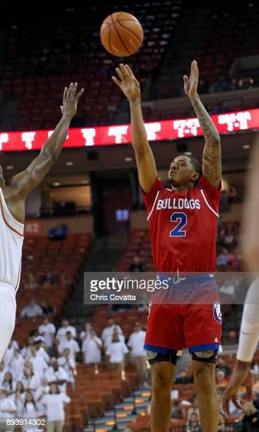 Jalen Harris of the Louisiana Tech Bulldogs shoots the ball against the Texas Longhornsat the Frank Erwin Center on December 16 2017 in Austin Texas