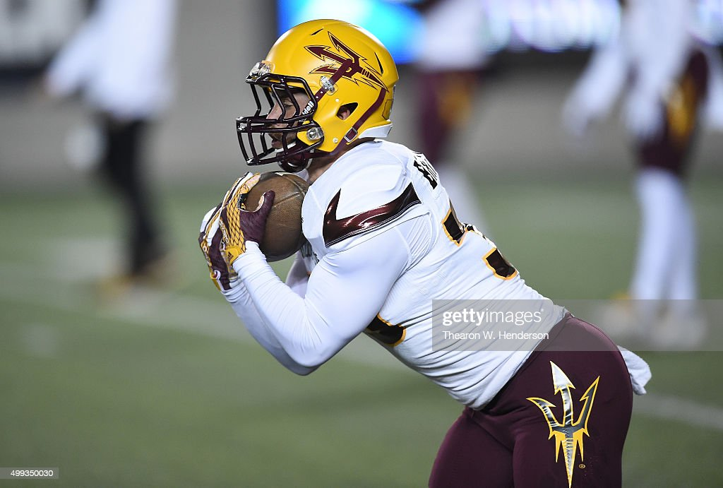 info for a08f9 bcec1 Jalen Harvey of the Arizona State Sun Devils warms up during ...