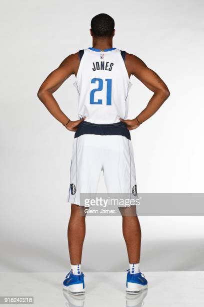 Jalen Jones of the Dallas Mavericks poses for a portrait on February 12 2018 at the American Airlines Center in Dallas Texas NOTE TO USER User...