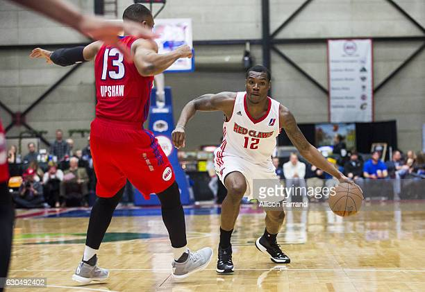 Jalen Jones of the Maine Red Claws drives to the basket against the Grand Rapids Drive at the DeltaPlex Arena on December 23 2016 in Walker Michigan...