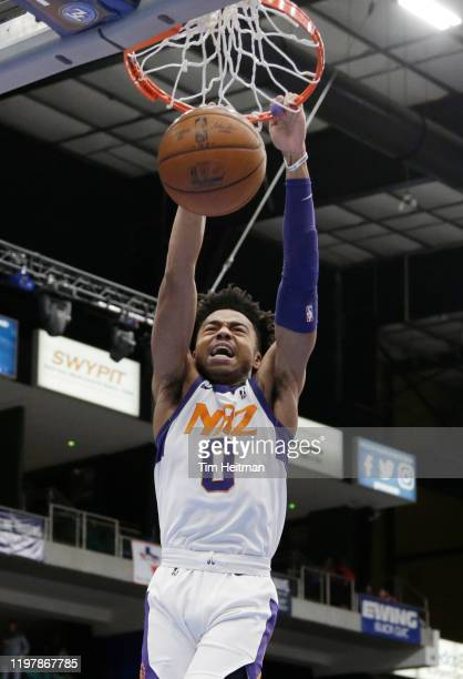 Jalen Lecque of the Northern Arizona Suns dunks against the Texas Legends during the first quarter on January 31 2020 at Comerica Center in Frisco...