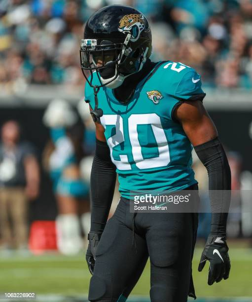 Jalen Ramsey of the Jacksonville Jaguars is seen during the first half against the Pittsburgh Steelers at TIAA Bank Field on November 18 2018 in...
