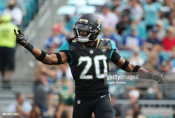 Jalen Ramsey of the Jacksonville Jaguars is seen on the field in the first half of their game against the Indianapolis Colts at EverBank Field on...