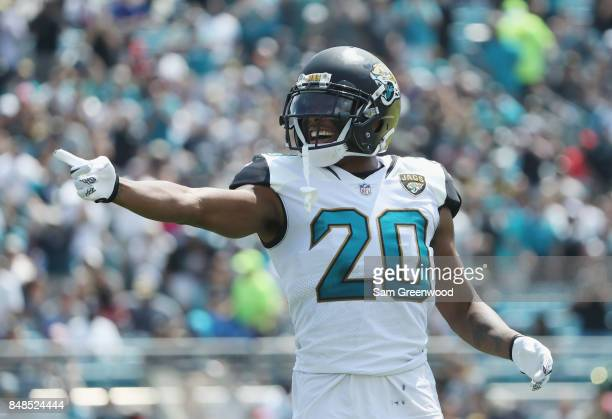 Jalen Ramsey of the Jacksonville Jaguars waits for a play on the field during the first half of their game against the Tennessee Titans at EverBank...
