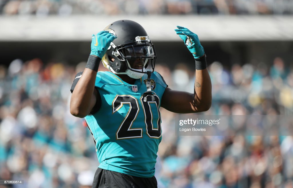 Jalen Ramsey #20 of the Jacksonville Jaguars waits on the field in the first half of their game against the Cincinnati Bengals at EverBank Field on November 5, 2017 in Jacksonville, Florida.