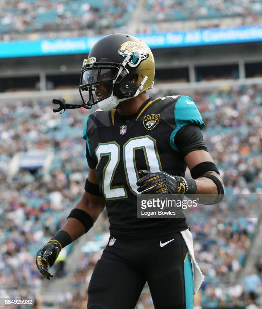 Jalen Ramsey of the Jacksonville Jaguars walks across the field in the first half of their game against the Indianapolis Colts at EverBank Field on...