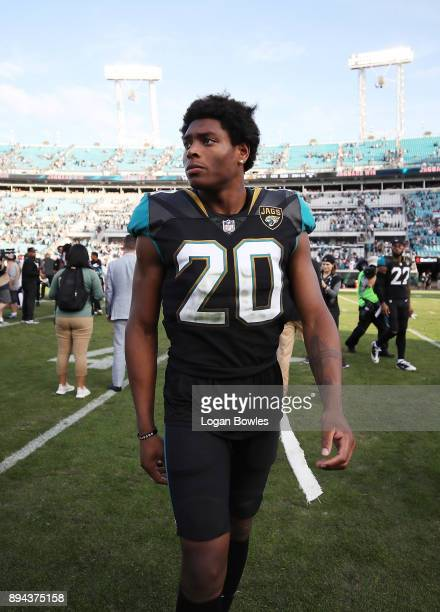 Jalen Ramsey of the Jacksonville Jaguars walks off the field after the Jaguars defeated the Houston Texans 457 at EverBank Field on December 17 2017...