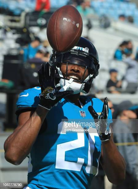 Jalen Ramsey of the Jacksonville Jaguars warms up pior to the game against the Houston Texans at TIAA Bank Field on October 21 2018 in Jacksonville...