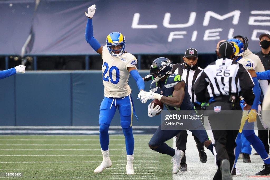 Wild Card Round - Los Angeles Rams v Seattle Seahawks : News Photo
