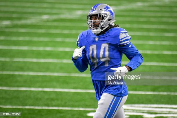 Jalen Reeves-Maybin of the Detroit Lions runs against the Indianapolis Colts at Ford Field on November 01, 2020 in Detroit, Michigan.