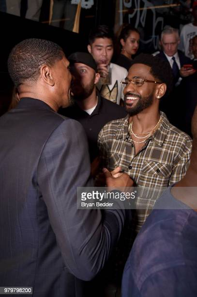 Jalen Rose and Big Sean attend the PUMA Basketball launch party at 40 40  Club 5b59b1b31