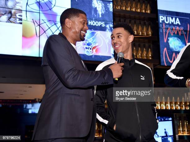 Jalen Rose and Zhaire Smith attend the PUMA Basketball launch party at  40 40 Club f8e6bdb01