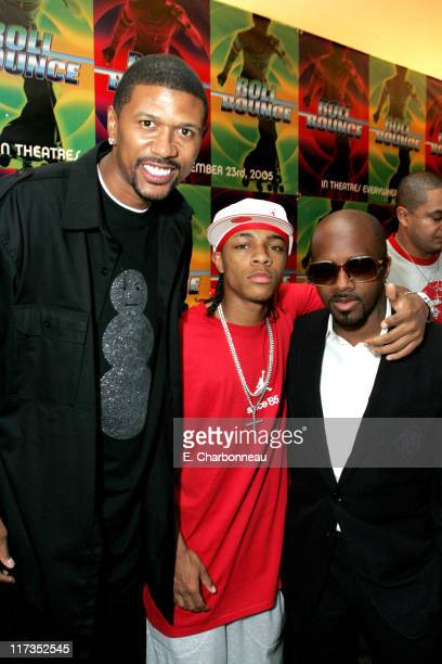 Jalen Rose Bow Wow and Jermaine Dupri during FoxSearchlight Pictures Present the Los Angeles Premiere of Roll Bounce After Party at The Bridge at...