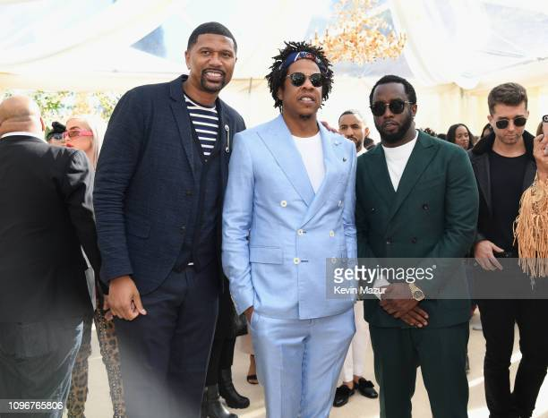 Jalen Rose, Jay-Z and Diddy attend 2019 Roc Nation THE BRUNCH on February 9, 2019 in Los Angeles, California.