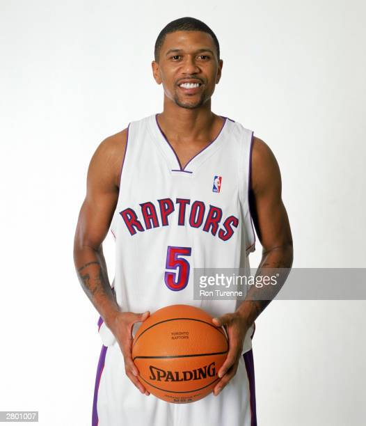 Jalen Rose of the Toronto Raptors poses for a portrait at Air Canada Centre on December 3 2003 in Toronto Ontario Canada NOTE TO USER User expressly...