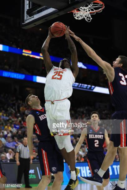 Jalen Smith of the Maryland Terrapins takes a shot against the Belmont Bruins in the first half during the first round of the 2019 NCAA Men's...