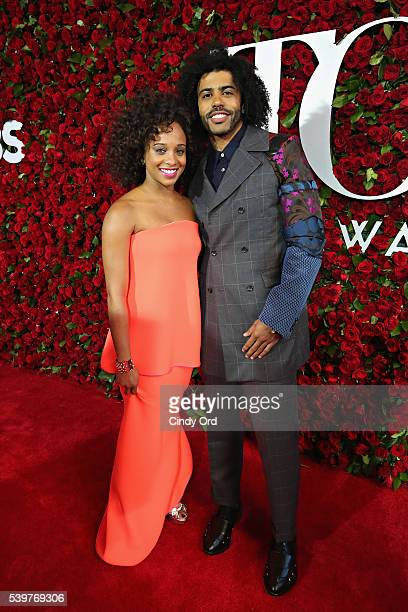 Jalene Goodwin and actor Daveed Diggs attend the 70th Annual Tony Awards at The Beacon Theatre on June 12 2016 in New York City