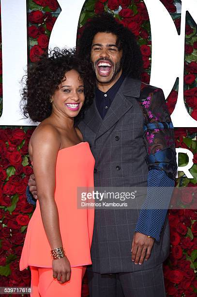 Jalene Goodwin and Actor Daveed Diggs attends the 70th Annual Tony Awards at The Beacon Theatre on June 12 2016 in New York City