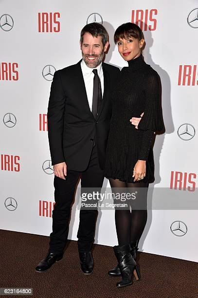 Jalil Lespert and his wife Sonia Rolland attend Iris Paris Premiere at Gaumont Champs Elysees on November 14 2016 in Paris France