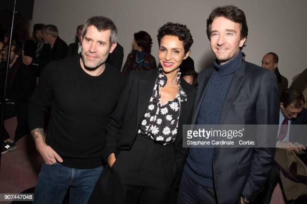 Jalil Lespert Farida Khelfa and Antoine Arnault attend the Berluti Menswear Fall/Winter 20182019 show as part of Paris Fashion Wee January 19 2018 in...