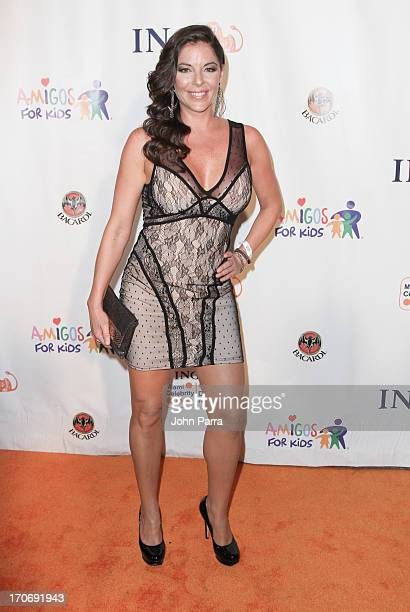 Jalymar Salomon attends the ING Celebrity Domino Night to Benefit Amigos For Kids at Jungle Island on June 15 2013 in Miami Florida