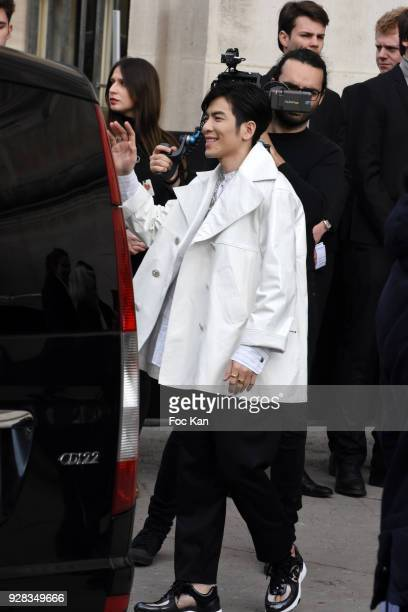 Jam Hsiao attends the Chanel show as part of the Paris Fashion Week Womenswear Fall/Winter 2018/2019 at Le Grand Palais on March 6 2018 in Paris...
