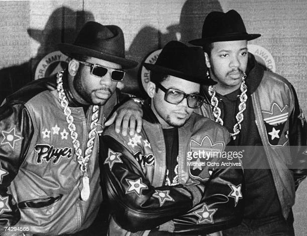 Jam Master Jay Darryl McDaniels aka DMC and Reverend Run of the hip hop group 'Run DMC' attend 30th Annual Grammy Awards on March 2 1988 at Radio...