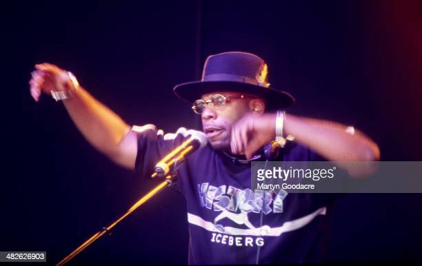 Jam Master Jay of Run DMC performs on stage at the Respect Festival, Finsbury Park, London, United Kingdom, 2001.