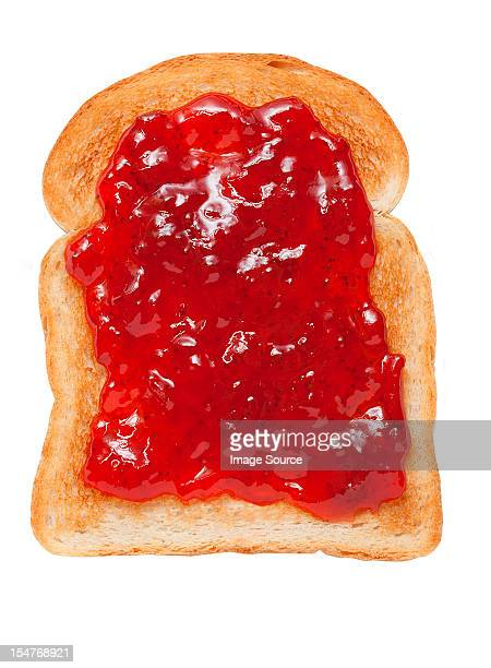 jam on toast - jam stock pictures, royalty-free photos & images