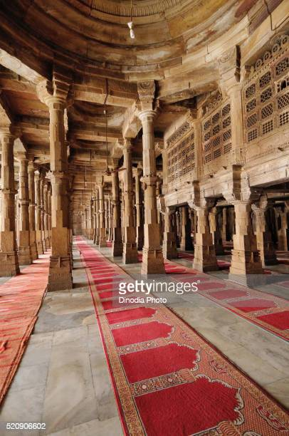 jama masjid champaner, ahmedabad, gujarat, india, asia - salah islamic prayer stock pictures, royalty-free photos & images