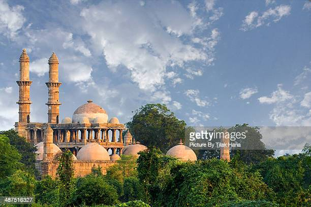 jama masjid - champaner (gujarat) india - ahmedabad stock pictures, royalty-free photos & images