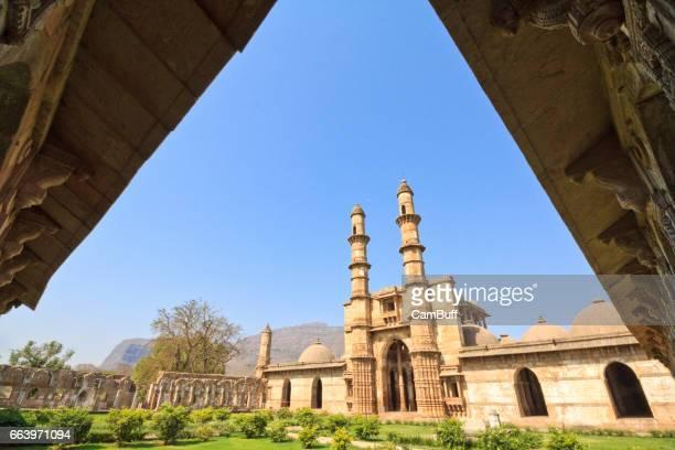 jama masjid, champaner – unesco world heritage site. champaner, gujarat. - ahmedabad stock pictures, royalty-free photos & images